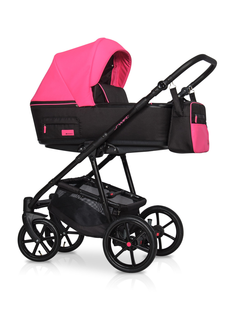 Коляска 2 в 1 Riko Swift Neon 22 Electric Pink