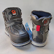 Детские демисезонные ботинки для мальчика хаки BBT 26р 16см, фото 3