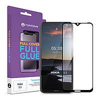 Защитное стекло MakeFuture Full Cover Full Glue Nokia 5.3 Black (MGF-N53)