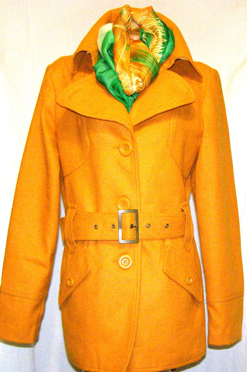 Шерстяное женское полу пальто VILA (M- 46 р)