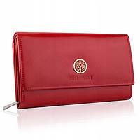 Жіночий шкіряний гаманець Betlewski з RFID 17,5 х 10,5 х 4 (BPD-SB-12) - червоний, фото 1
