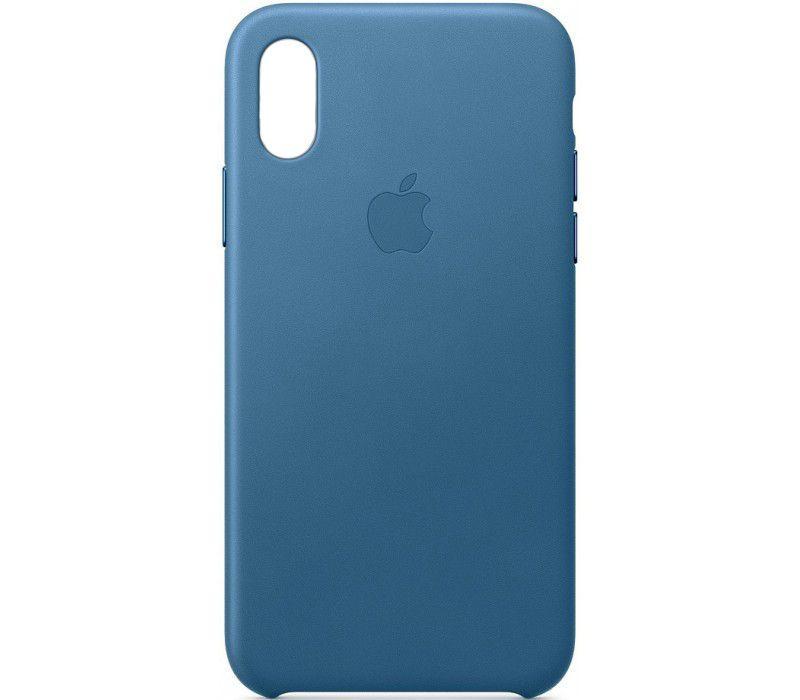 Чехол Apple Leather Case iPhone Xr Cape Cod Blue_High Copy