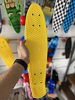 Скейт Penny Board, с широкими красными колесами Пенни борд, детский , от 4 лет, Цвет желтый