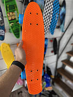 Скейт Penny Board, с широкими синими колесами Пенни борд, детский , от 4 лет, Цвет Оранжевый