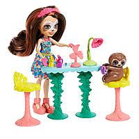 Енчантималс Игровой набор Салон красоты ленивец Сэла Ленни и Трибоди Enchantimals Slow-Down Salon & Sela Sloth