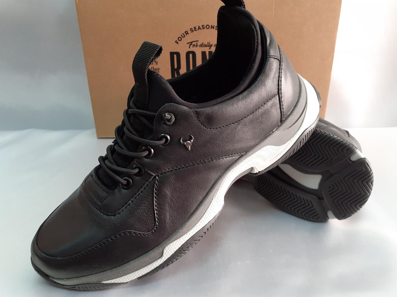 Осенние кожаные комфортные кроссовки Rondo