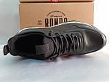 Осенние кожаные комфортные кроссовки Rondo, фото 4