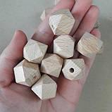 Деревянные бусины многогранники из бука 20мм, фото 5