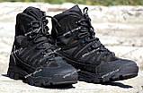 Якісні черевики тактичні Extreme-black. Нубук+кордура. Розмір: 40-45, фото 3