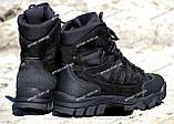 Якісні черевики тактичні Extreme-black. Нубук+кордура. Розмір: 40-45, фото 4
