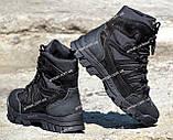 Якісні черевики тактичні Extreme-black. Нубук+кордура. Розмір: 40-45, фото 5