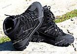Якісні черевики тактичні Extreme-black. Нубук+кордура. Розмір: 40-45, фото 6