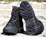 Якісні черевики тактичні Extreme-black. Нубук+кордура. Розмір: 40-45, фото 9