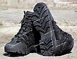 Якісні черевики тактичні Extreme-black. Нубук+кордура. Розмір: 40-45, фото 10
