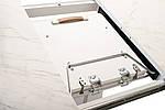 Стіл обідній керамічний TML-800 білий мармур, розсувний, фото 6