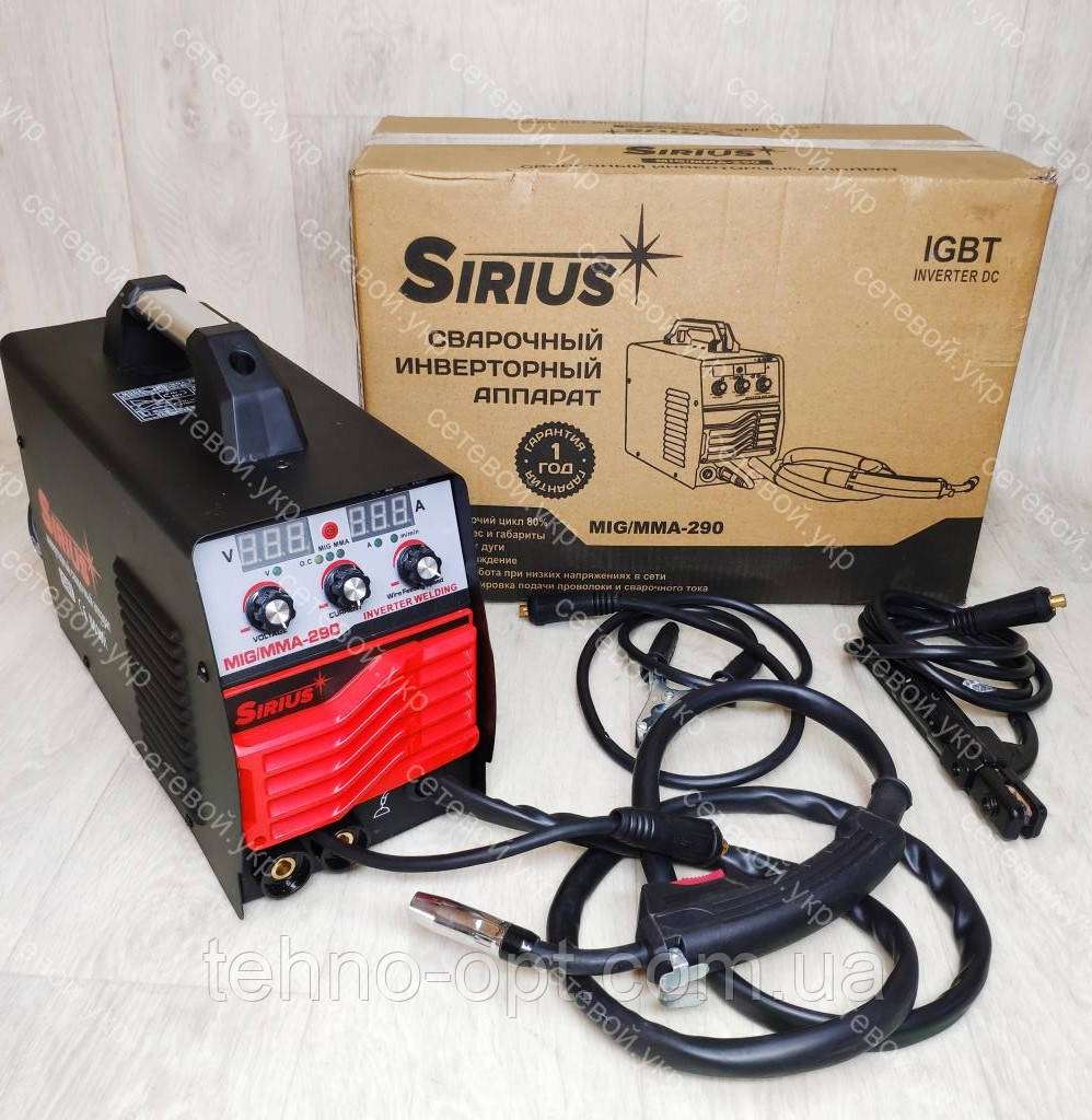Сварочный инверторный полуавтомат Sirius 290A
