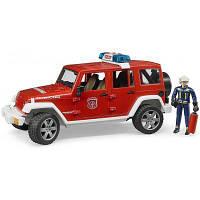 Спецтехника Bruder Джип пожарный Wrangler Unlimited Rubicon + фигурка (02528)