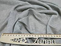 Ткань двунитка петля однотонная с люрексом светло-серого цвета, фото 1