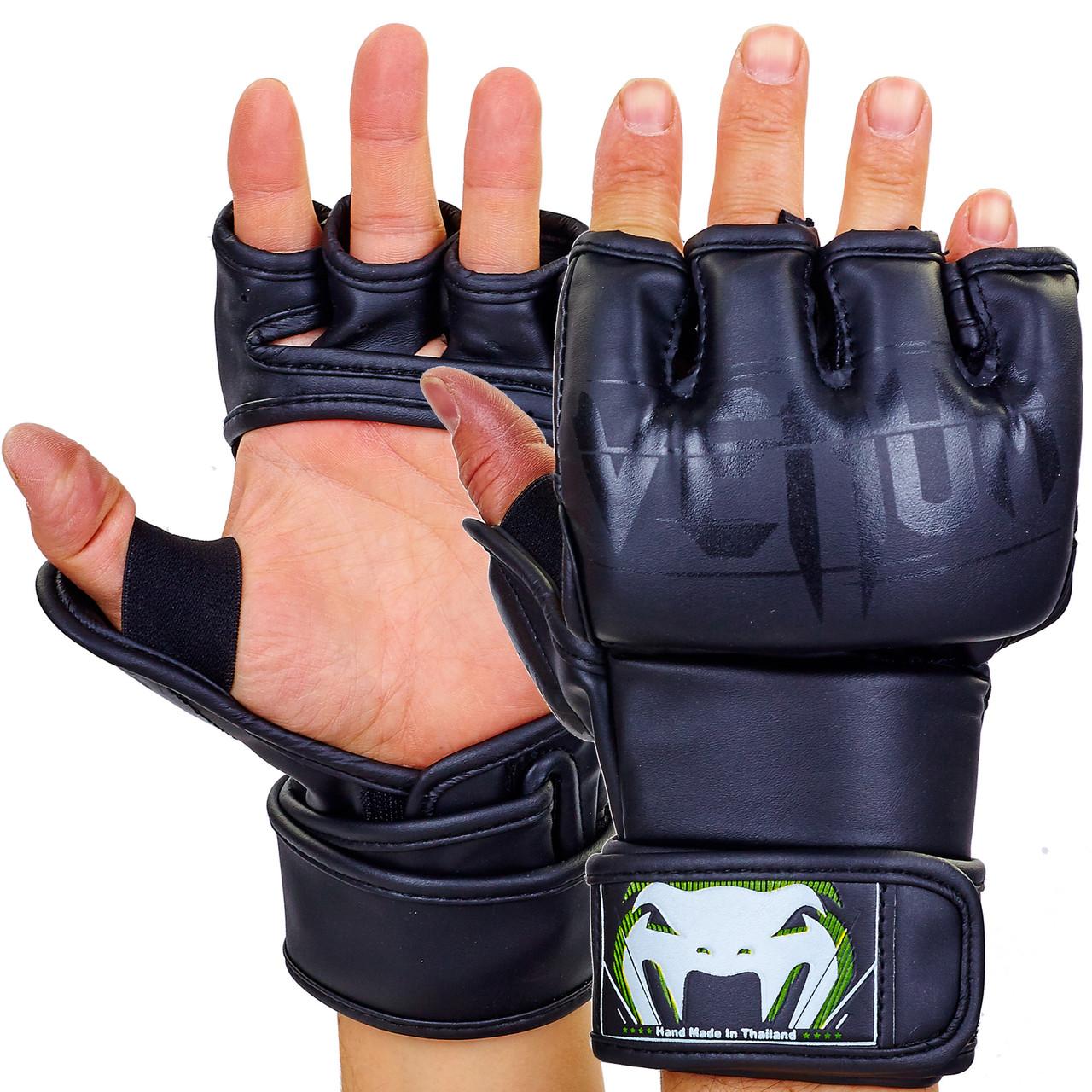 Перчатки для смешанных единоборств MMA PU VENUM BO-5699 S, Черный-белый