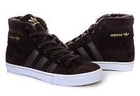 Кроссовки Adidas зимние с мехом унисекс