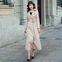 Куртка-ветровка женская, тонкое двубортное пальто плащ