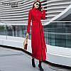 Длинное женское пальто воротник стойка 2 цв