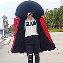 Парку підкладка з хутра єнота, куртка повсякденна з великим хутряним коміром 3кол, фото 3