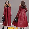 Эко-Кожа пальто, женский длинный плащ 2 цв