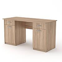 Стол письменный Учитель-2, с тумбами и ящиками для студентов и школьников 140х60х74 см (Компанит)