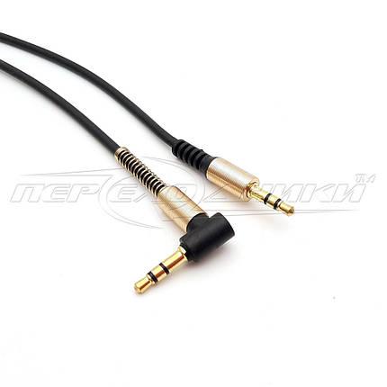 Аудио кабель AUX 3.5 mm jack 1 м, угловой(хорошее качество), фото 2