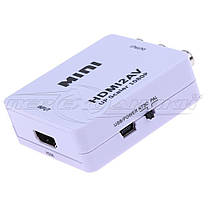 Конвертер HDMI to AV (RCA) + Audio, питание mini USB, фото 2
