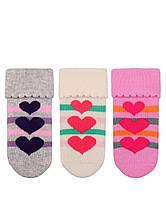 Махрові шкарпетки для новонароджених оптом TM BROSS р. 0-6 міс (13-15 см)