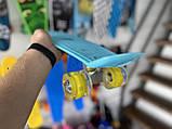 "Скейт Пенни борд. Penny Board 22 ""Pastel Series"", скейт детский, Бирюзовый цвет, фото 3"