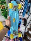"Скейт Пенни борд. Penny Board 22 ""Pastel Series"", скейт детский, Бирюзовый цвет, фото 9"
