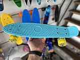 "Скейт Пенни борд. Penny Board 22 ""Pastel Series"", скейт детский, Бирюзовый цвет, фото 5"