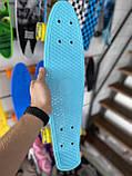 "Скейт Пенни борд. Penny Board 22 ""Pastel Series"", скейт детский, Бирюзовый цвет, фото 2"