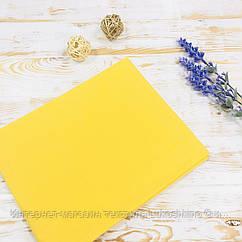Дитяча пелюшка бавовняна яскраво-жовта Lukoshkino ® №19 Розмір 80см*100см. ХП-346
