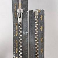 Металлические 5 разъемные молнии OPTI 30-80 см с автоматическим фиксатором, разные цвета Серый, 750