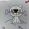 Наволочка, 40*40 см, (хлопок), (бульдоги на сером), фото 3