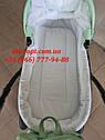 Детская коляска 2 в 1 Classik ( Классик) Victoria Gold эко кожа мятный, фото 4