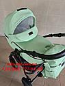 Детская коляска 2 в 1 Classik ( Классик) Victoria Gold эко кожа мятный, фото 3