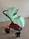 Детская коляска 2 в 1 Classik ( Классик) Victoria Gold эко кожа мятный, фото 6