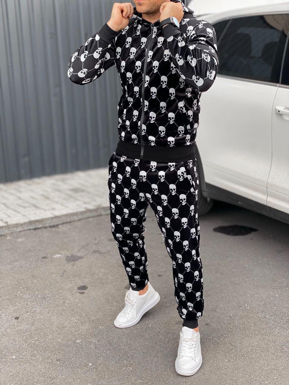 Мужской велюровый спортивный костюм Philipp Plein