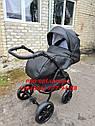 Детская коляска 2 в 1 Classik ( Классик) Victoria Gold эко кожа черный, фото 6