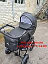 Детская коляска 2 в 1 Classik ( Классик) Victoria Gold эко кожа черный, фото 3