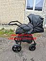 Детская коляска 2 в 1 Classik ( Классик) Victoria Gold эко кожа черный, фото 7