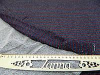 """Ткань двунитка петляс люрексом в мелкую темно-синюю и мелкую бордовую полосу """"Кира"""", фото 1"""