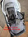 Детская коляска 2 в 1 Classik (Классик) Victoria Gold эко кожа серая с белым, фото 3