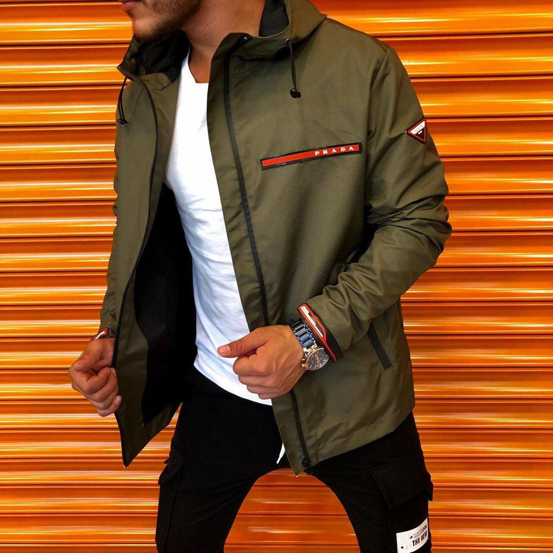 Куртка-ветровка мужская демисезонная с капюшоном