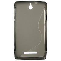 Чехол S-Line для Sony Xperia E c1505 c1605 Grey